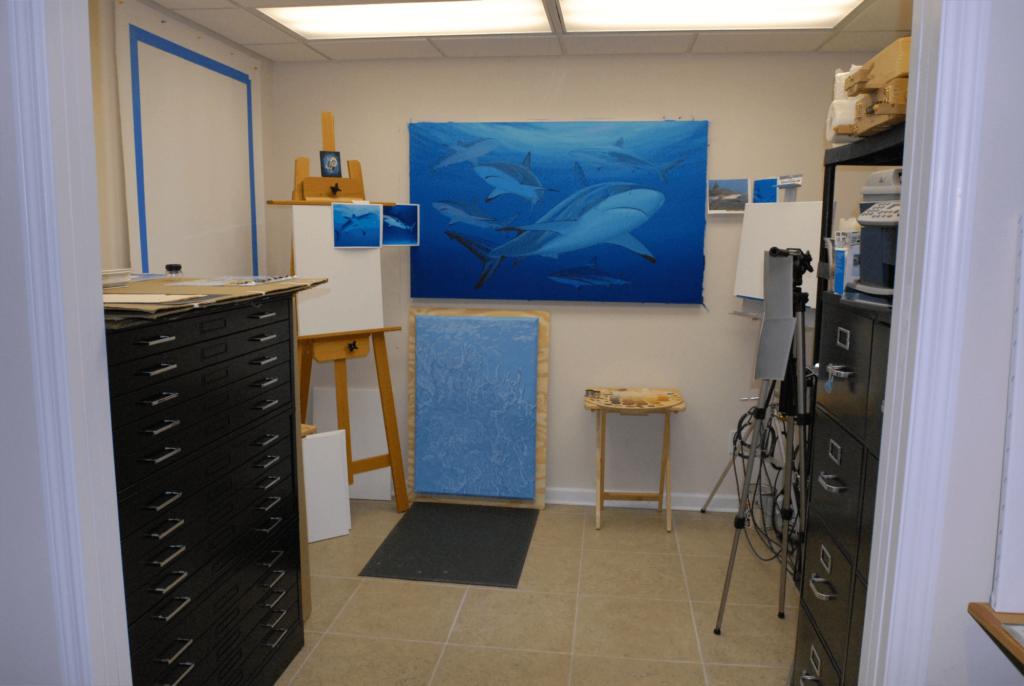 Blue Shark Painting