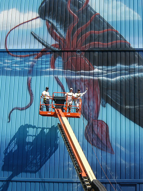 Painting Large Mural